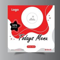 Food Social Media  Post Banner Template Layout Design vector
