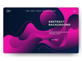 abstract background pink and dark liquid style vector
