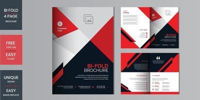 Creative concept folded flyer or bifold brochure set vector