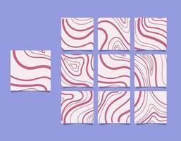 plantillas de redes sociales banners, blogs, ventas de moda, lanzamientos. rompecabezas de marco de poste cuadrado totalmente editable, carteles de vector
