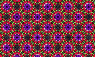 Geometric kaleidoscope multi-colored seamless pattern photo