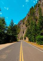 Summer Drive - A view in the Clackamas River Canyon on FR46 - southeast of Estacada, OR photo
