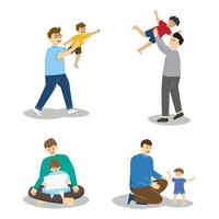 Happy Father's Day Character Collection vector