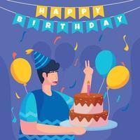 concepto de feliz cumpleaños vector
