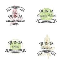 Set of quinoa vintage logo vector