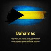 Bahamas Flag with black background vector
