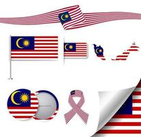 Malaysia Flag with elements vector