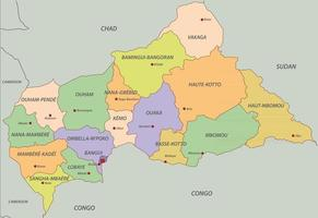 Central African with states vector