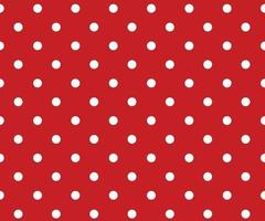 Vintage polka dots white and red pattern vector
