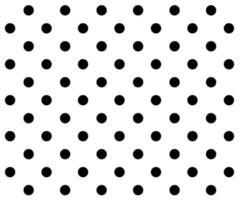 black and white polka dot pattern background vector