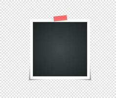 conjunto de marco de fotos vintage vacío con cinta adhesiva vector