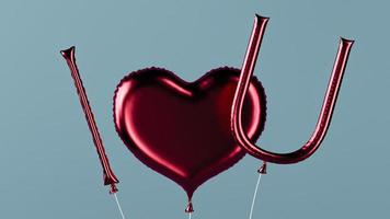 I love you message balloons photo