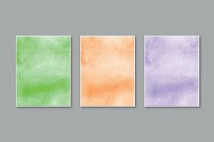 Watercolor pastel background hand painted, colorful stains on paper vector
