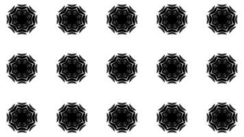Fondo de movimiento caleidoscópico blanco y negro video