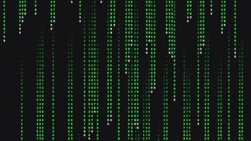 Abstract Falling Binary Code Background video