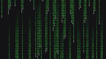 fond de code binaire tombant abstrait video