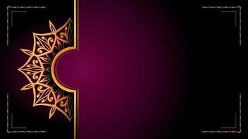 Luxury ornamental mandala logo background arabesque style vector