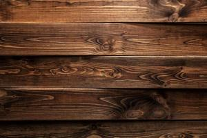 Brown wood background or texture photo