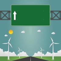 Highway road signs vector