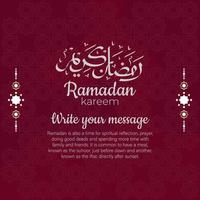 Eid mubarak design with Islamic ornaments vector