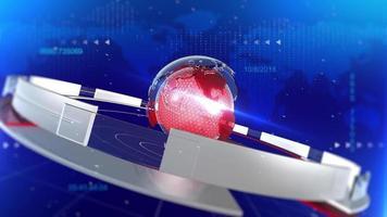 Spinning Globe News Stinger Background video