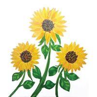 Flowers watercolor illustration design vector