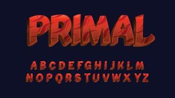 Modern Tribal Pattern Futuristic Typography vector