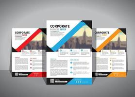 flyer business template for layout brochure promotion or annual report company vector