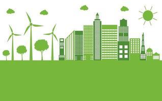 Green ecology city vector