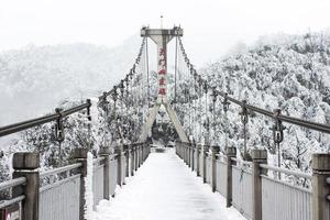 Concrete suspension bridge photo