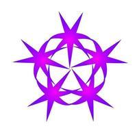 Star spinning swirls circular purple color vector