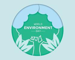 World Environment Day In Paper vector
