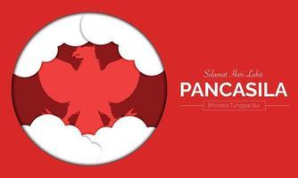 Pancasila Day Cloud Circle Vector