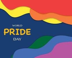World Pride Day With Color Wave vector
