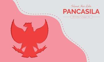 Flat Pancasila Day Simple Vector