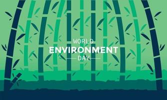 World Environment Day Bamboo Forest Landscape vector