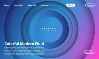 Landing Page Abstract background website vector