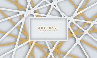 líneas abstractas de oro sobre fondo blanco vector