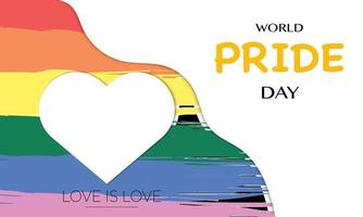 Simple World Pride Day Vector