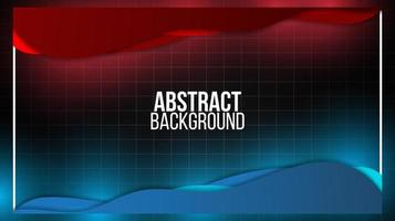 Black abstract mat geometric red and blue background elegant futuristic glossy red and blue light vector