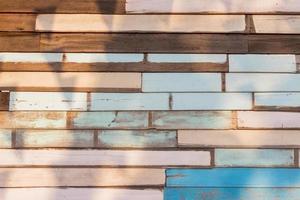 Old natural wood wall photo