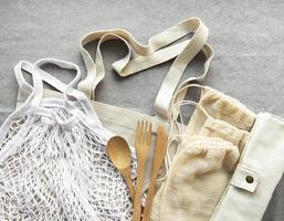 Mesh bag and cotton bags photo