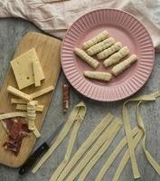 pasta casera y queso foto