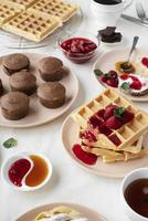 High angle assortment with tasty food photo