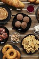 Top view tasty food arrangement photo