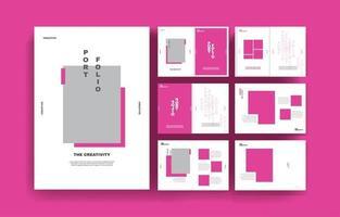 Minimal creative modern portfolio presentation background template vector