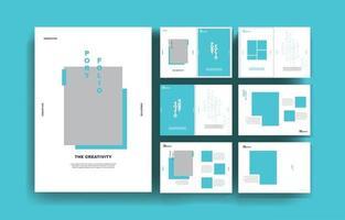 Minimal modern portfolio presentation background template creative business presentation vector