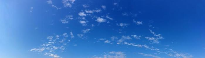 Panorama sky with cloud on a sunny day photo