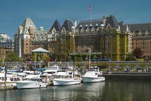 El hotel Fairmont Empress en Victoria, British Columbia, Canadá foto