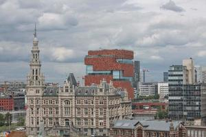 The Museum aan de Stroom located along the river Scheldt in the Eilandje district of Antwerp, Belgium photo
